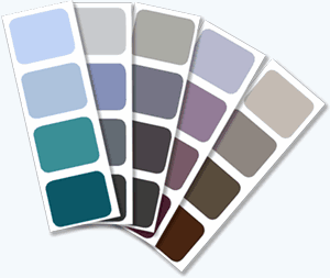 Sample of different paint colours